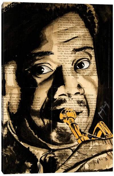 Louis Armstrong Canvas Art Print