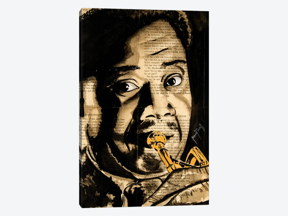 Louis Armstrong by Ahmad Shariff 1-piece Canvas Wall Art