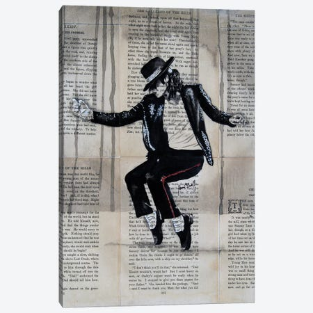 Michael Jackson Canvas Print #AHS27} by Ahmad Shariff Canvas Art