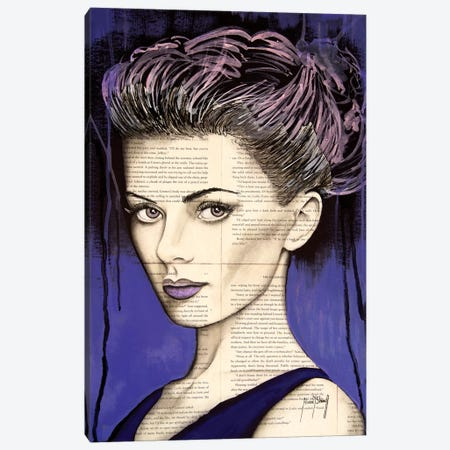 Purple Life Canvas Print #AHS32} by Ahmad Shariff Canvas Art