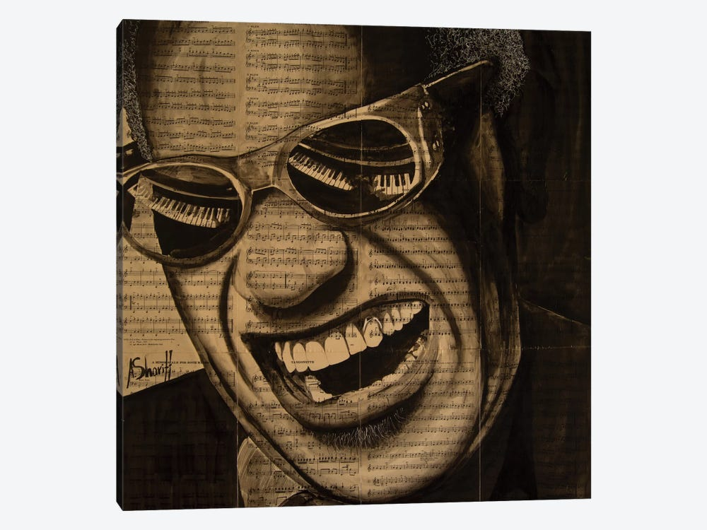 Ray Charles by Ahmad Shariff 1-piece Art Print