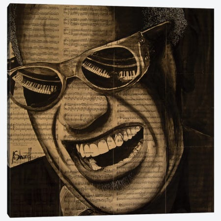 Ray Charles Canvas Print #AHS34} by Ahmad Shariff Canvas Print