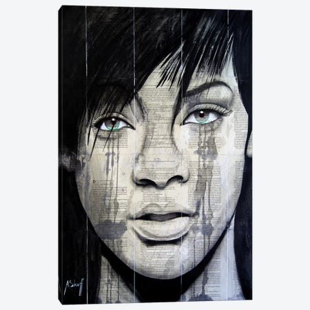 Rihanna II Canvas Print #AHS35} by Ahmad Shariff Canvas Art Print