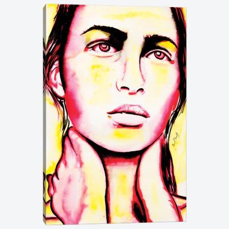 Sad Girl Canvas Print #AHS37} by Ahmad Shariff Canvas Art Print