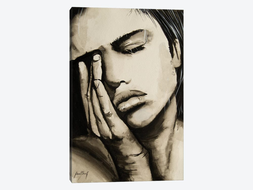Sad Woman by Ahmad Shariff 1-piece Canvas Print