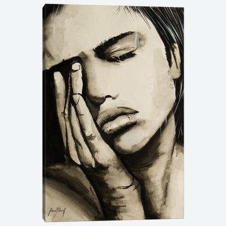 Sad Woman Canvas Print #AHS38} by Ahmad Shariff Canvas Art