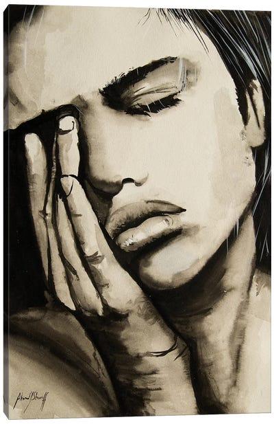 Sad Woman Canvas Art Print