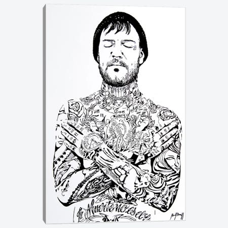 Tattoo Man Canvas Print #AHS40} by Ahmad Shariff Canvas Art Print