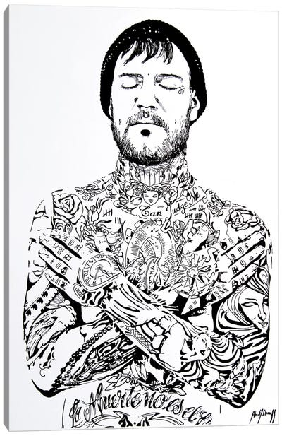 Tattoo Man Canvas Art Print