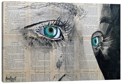 Vintage Eyes Canvas Art Print