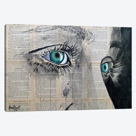 Vintage Eyes Canvas Print #AHS45} by Ahmad Shariff Canvas Art
