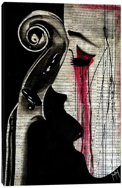 Woman Cello Canvas Art Print