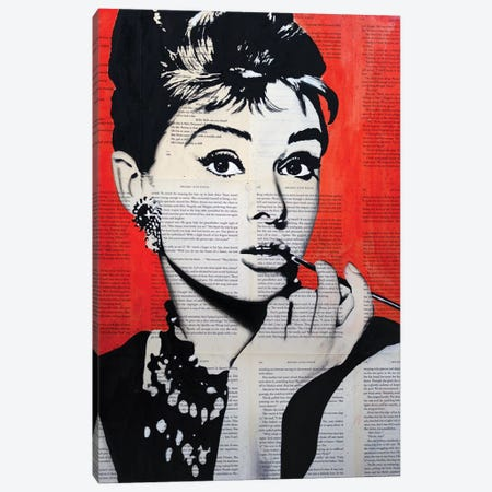Audrey Hepburn Canvas Print #AHS56} by Ahmad Shariff Canvas Print