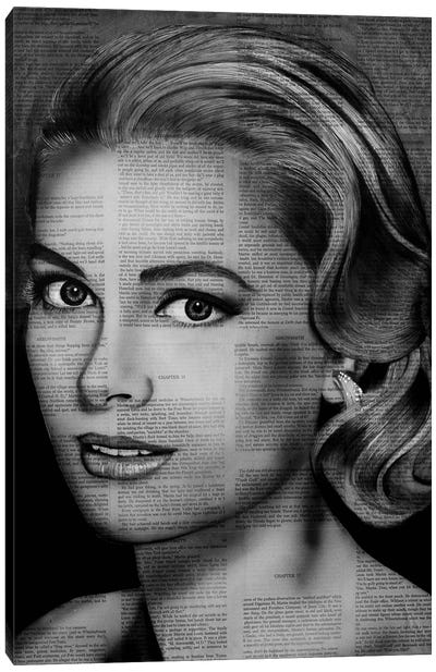 Grace Kelly Canvas Art Print