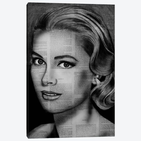 Grace Kelly Canvas Print #AHS62} by Ahmad Shariff Canvas Print