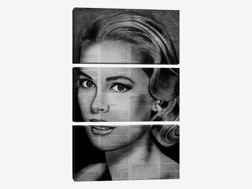 Grace Kelly by Ahmad Shariff 3-piece Canvas Art