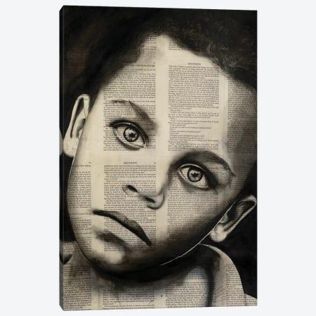 Young Boy 3-Piece Canvas #AHS68} by Ahmad Shariff Canvas Print