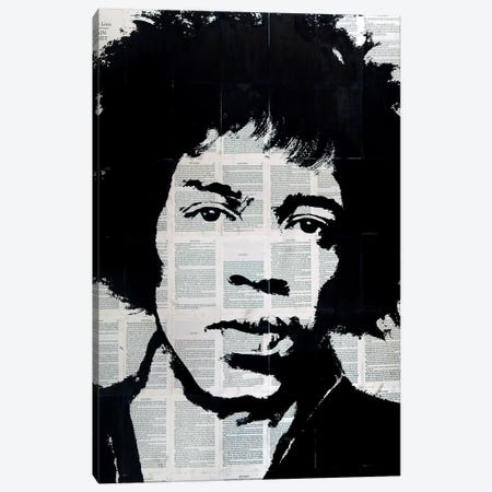Jimi Hendrix Canvas Print #AHS74} by Ahmad Shariff Canvas Art Print