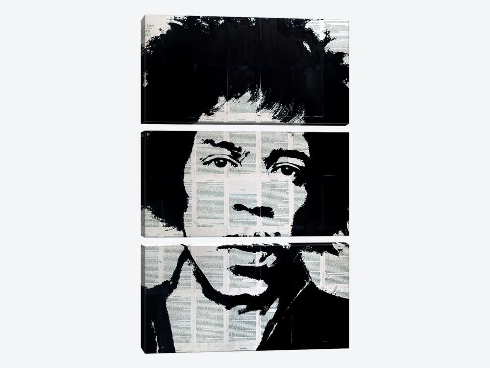Jimi Hendrix by Ahmad Shariff 3-piece Art Print
