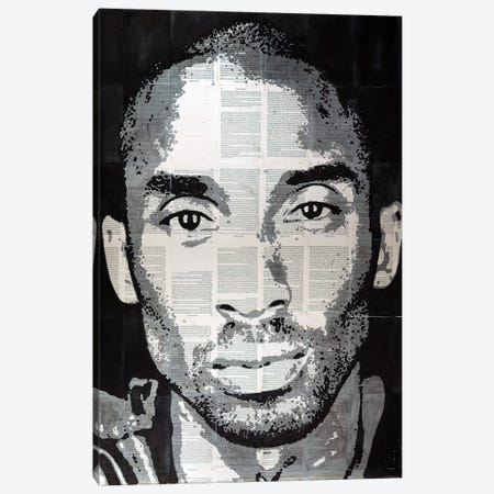 Kobe Bryant 3-Piece Canvas #AHS75} by Ahmad Shariff Art Print