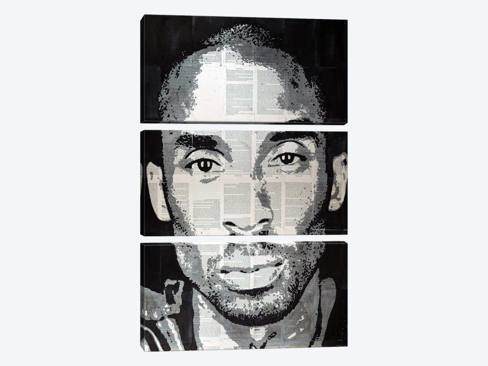 Kobe Bryant by Ahmad Shariff 3-piece Canvas Wall Art