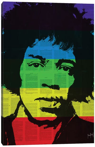 Jimi Rainbow Canvas Art Print