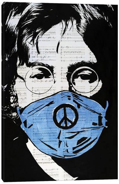 John Lennon Got Mask Canvas Art Print