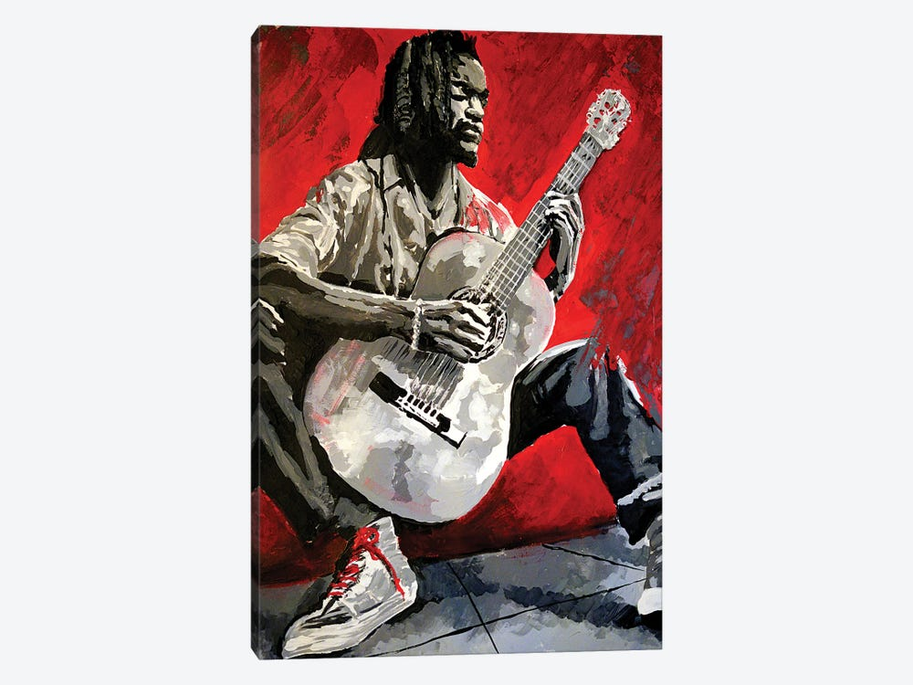 Jazz Player by Ahmad Shariff 1-piece Canvas Print