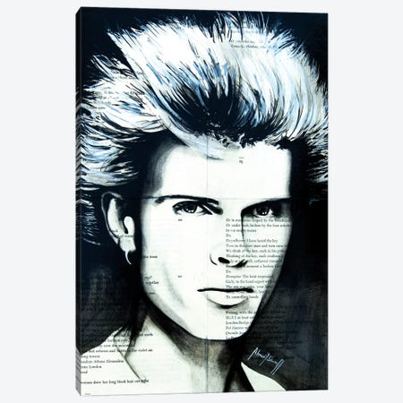 Billy Idol Canvas Print #AHS8} by Ahmad Shariff Canvas Art