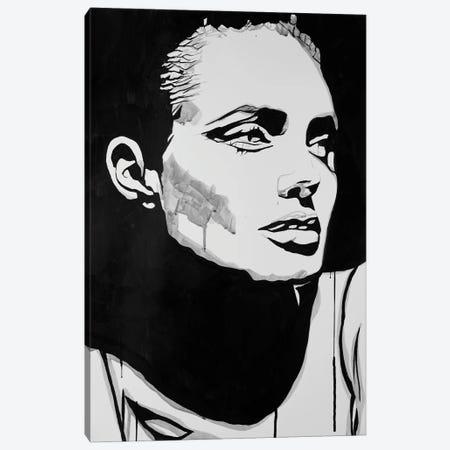 JL Gray Canvas Print #AHS97} by Ahmad Shariff Canvas Art Print