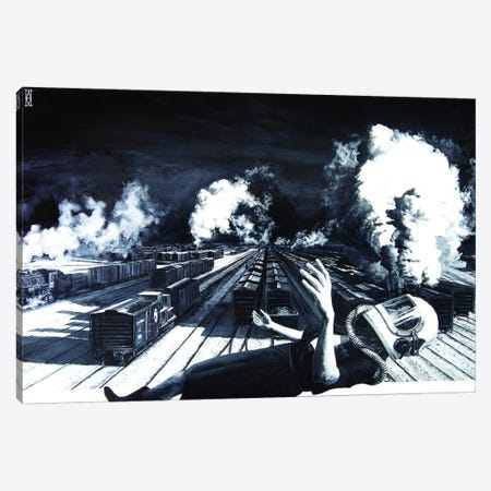Are We High Enough To Clear These Tracks Canvas Print #AHU10} by Alec Huxley Canvas Artwork