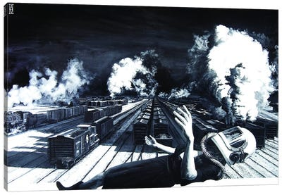 Are We High Enough To Clear These Tracks Canvas Art Print