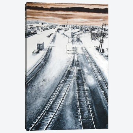 Argo Yard Canvas Print #AHU11} by Alec Huxley Canvas Artwork