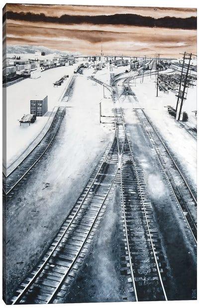 Argo Yard Canvas Print #AHU11