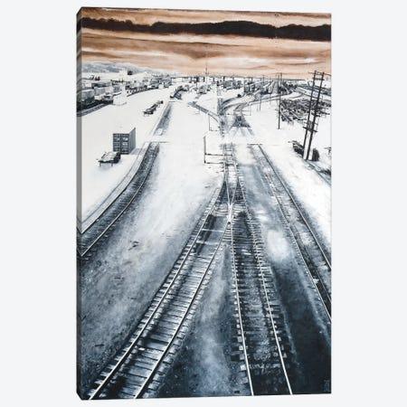 Argo Yard Canvas Print #AHU11} by Alec Huxley Canvas Artwork