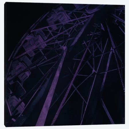 Fun Forest Night Canvas Print #AHU19} by Alec Huxley Canvas Art
