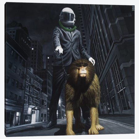 New World Monkey Canvas Print #AHU30} by Alec Huxley Canvas Artwork