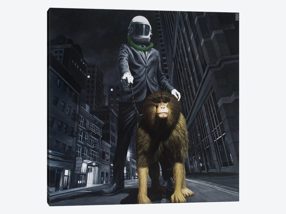 New World Monkey by Alec Huxley 1-piece Canvas Print