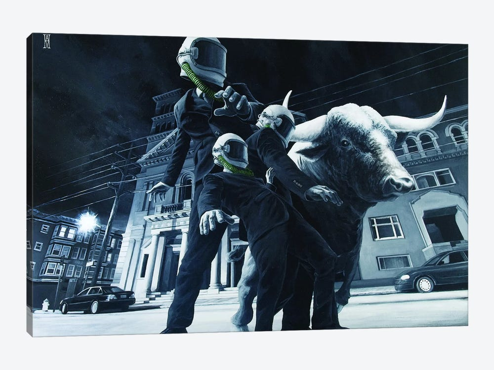 The Descent Of Man by Alec Huxley 1-piece Canvas Artwork