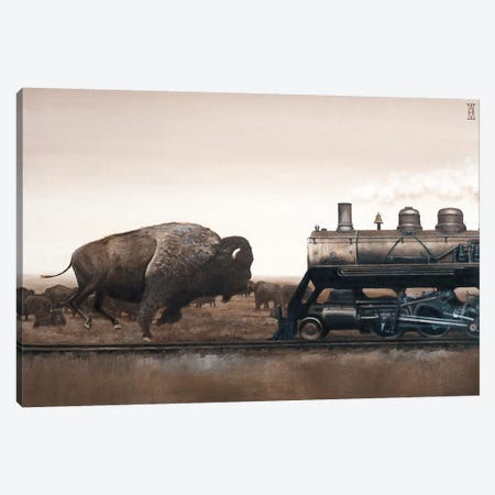 Plains Game Canvas Print #AHU66} by Alec Huxley Canvas Art