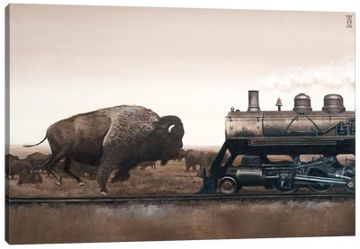 Plains Game Canvas Art Print