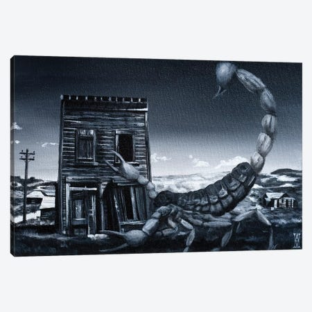 Eve Of The Scorpion 3-Piece Canvas #AHU74} by Alec Huxley Art Print
