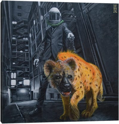 Alley Scraps Canvas Art Print