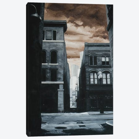 Alley Off Jackson St. Canvas Print #AHU8} by Alec Huxley Canvas Art