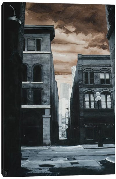 Alley Off Jackson St. Canvas Art Print