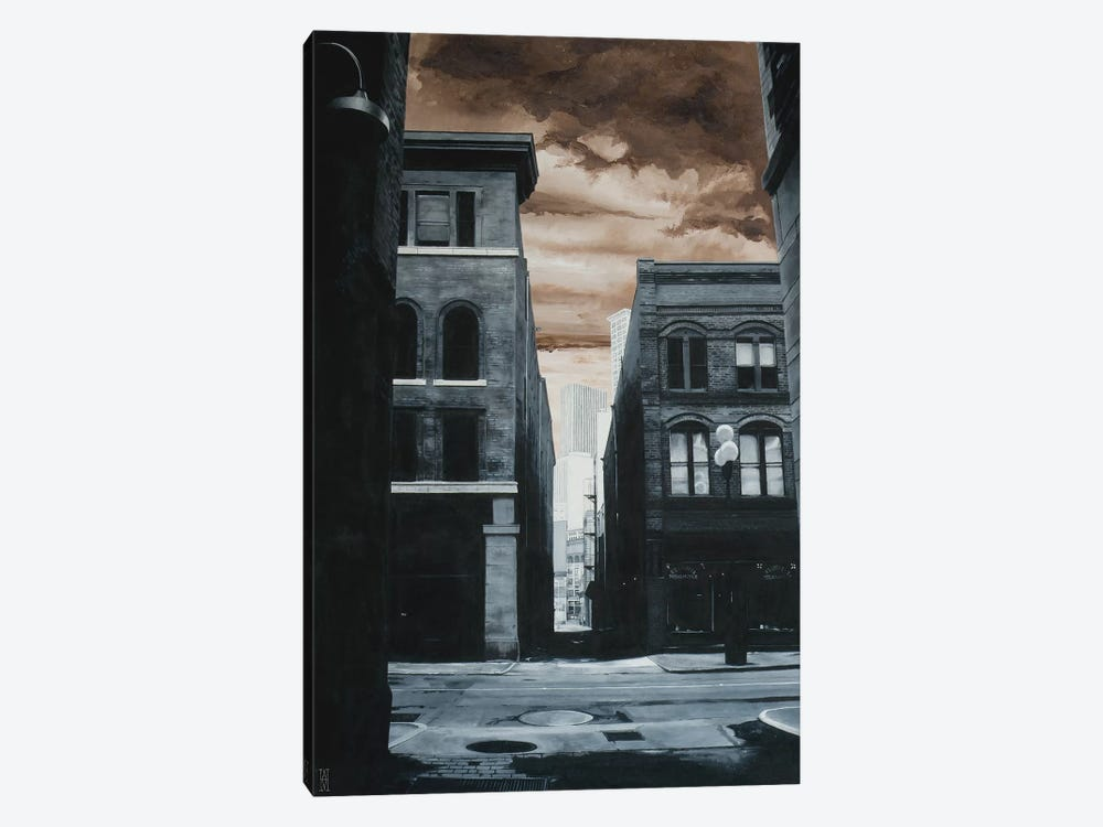 Alley Off Jackson St. by Alec Huxley 1-piece Art Print