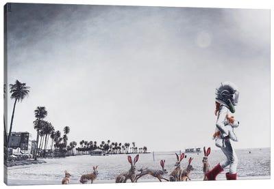 Beach Bunnies Canvas Art Print