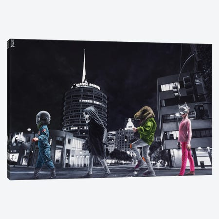 Ghouls Night Out Canvas Print #AHU97} by Alec Huxley Art Print