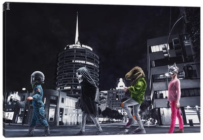 Ghouls Night Out Canvas Art Print