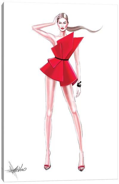 Fashion Red Canvas Art Print